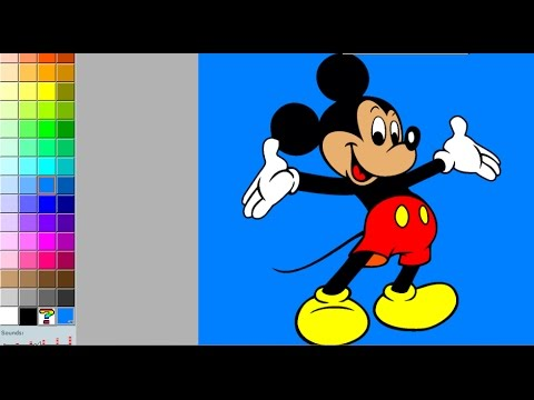 Mickey Mouse Color And Play Clup House Paint 3D Color Disney Junior