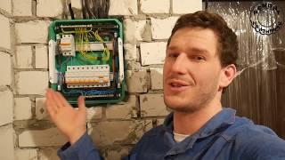 электромонтаж в квартире: Сборка распределительной коробки и щитка (4 серия)