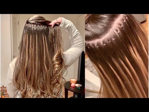 HAIR EXTENSIONS: Full Head of I-Link Micro Ring Extensions!