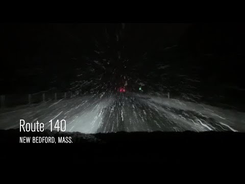 Video Now: Early morning snow on Rt. 140 in New Bedford, Mass.