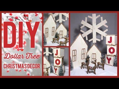 DIY Dollar Tree Rustic Farmhouse Christmas Decor Ideas 2019 - Simple, Cheap And Easy