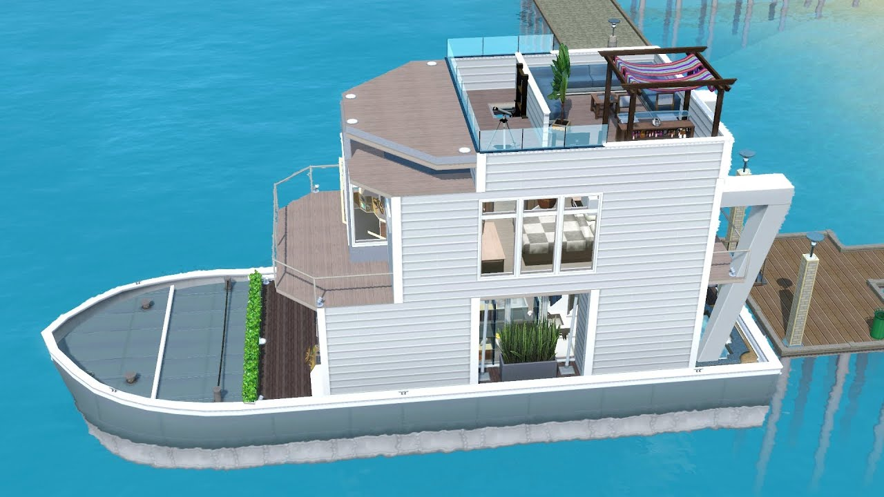 The sims 3 house boat building ss paradiso including for Best house designs for the sims 3