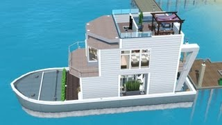 Video The Sims 3 House Boat building | SS Paradiso (Including dock) download MP3, 3GP, MP4, WEBM, AVI, FLV September 2018