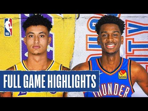 LAKERS At THUNDER | FULL GAME HIGHLIGHTS | January 11, 2020