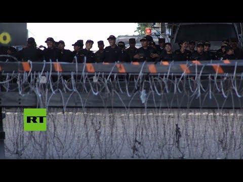 Cierran paso fronterizo entre Honduras y Guatemala por afluencia de migrantes