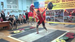 Сахаров Сергей (КМС) рывок 122 кг толчок 160 кг