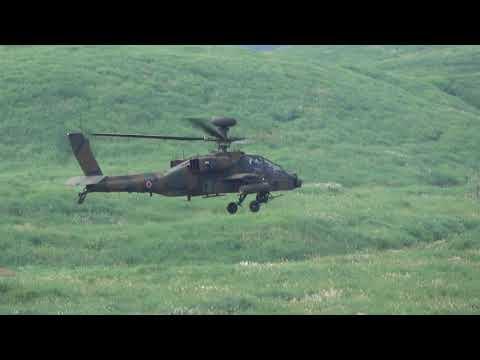 富士総合火力演習 AH-64D アパッチ 30mm機関砲 射撃