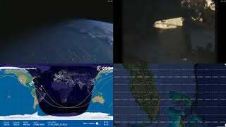Evening North America - NASA/ESA ISS LIVE Space Station With Map - 215 - 2018-10-17