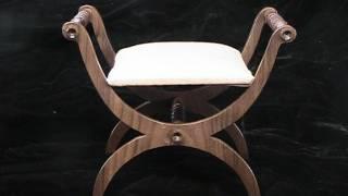2011 Miniature Walnut Chair