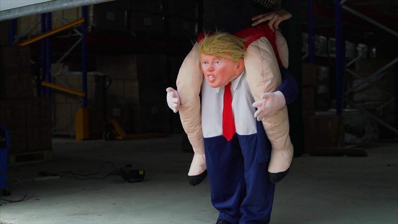 5783a4f13e54 Hilarious Donald Trump Piggyback Fancy Dress Costume!! - YouTube