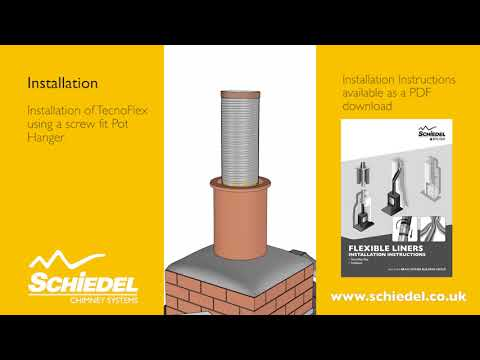Fitting a stove and re-lining a chimney flue using steel flexible liner