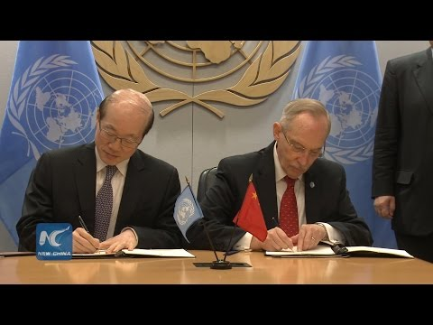 China inks $200 million agreement to finance UN peace, security and development activities