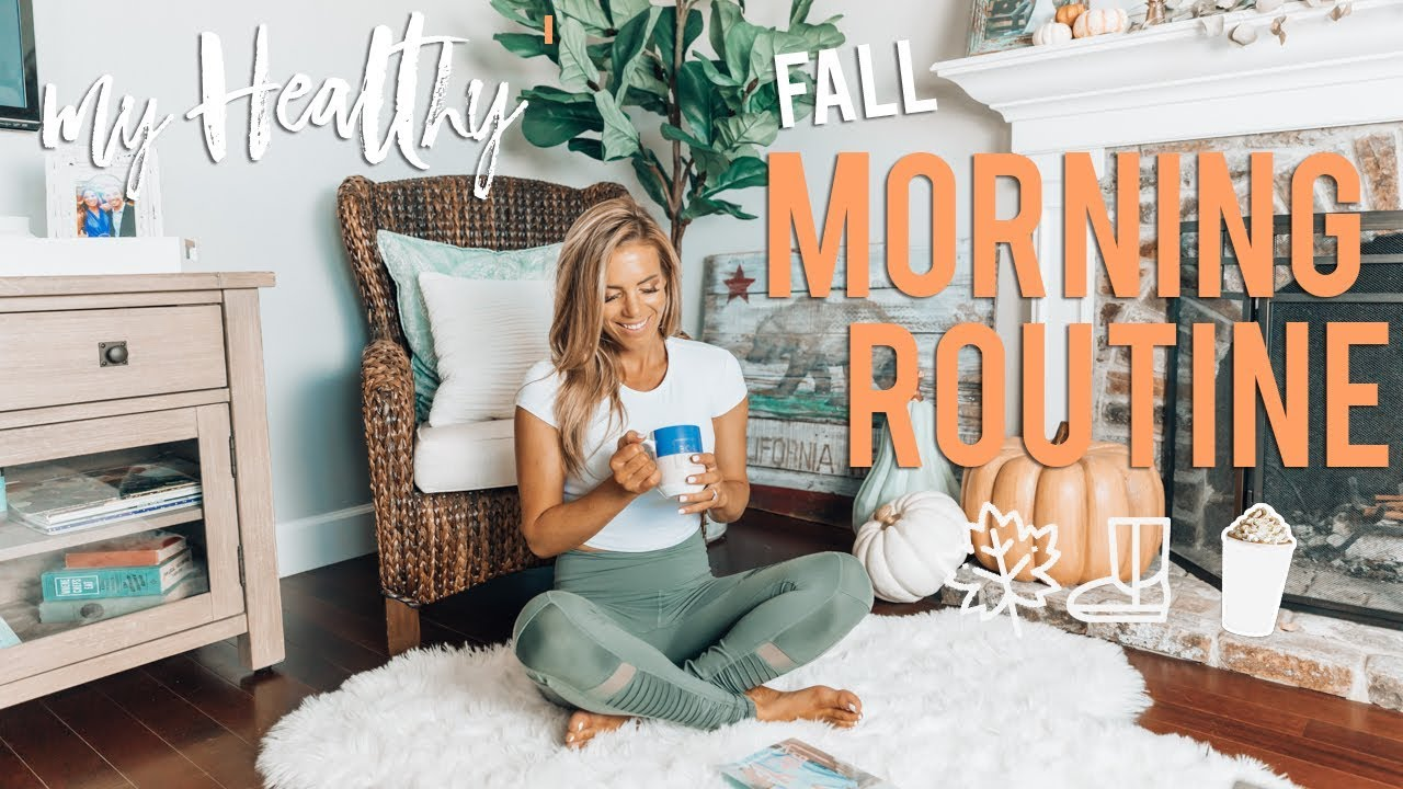My Real HEALTHY Fall Morning Routine 2018 | Busy Girl Hacks image