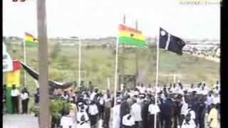 PRESIDENT OF GHANA ARRIVING AT AHMADIYYA CONVENTION GHANA