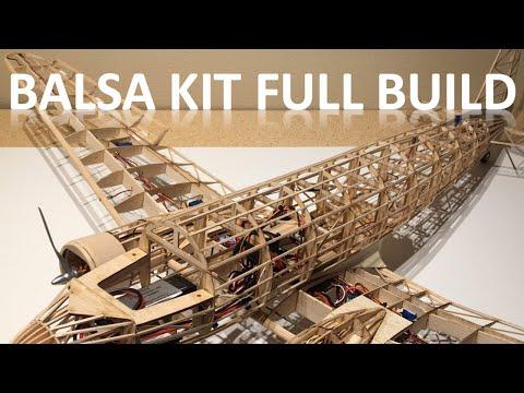 "60"" Balsa Kit DC 3 Airplane Full Build Video"