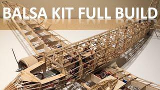 60' Balsa Kit DC 3 Airplane Full Build Video