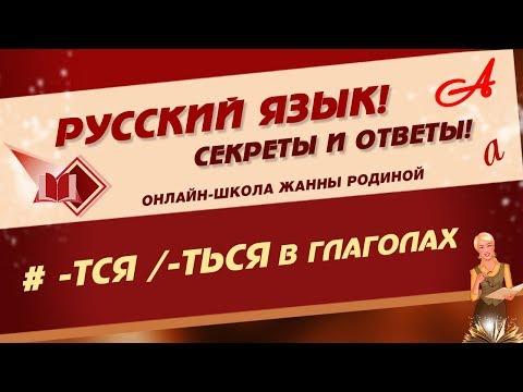 📚 Русский язык. Правописание -ТСЯ -ТЬСЯ  в глаголах 📚