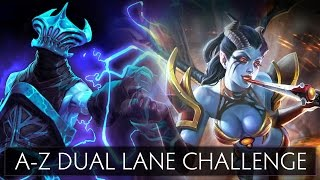 Dota 2 A-Z Dual Lane Challenge - Queen of Pain and Razor