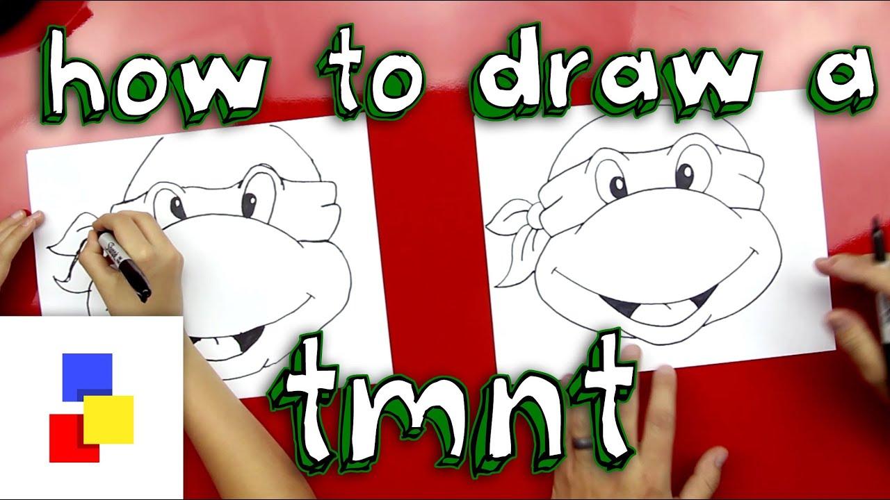 How To Draw A Teenage Mutant Ninja Turtle Face