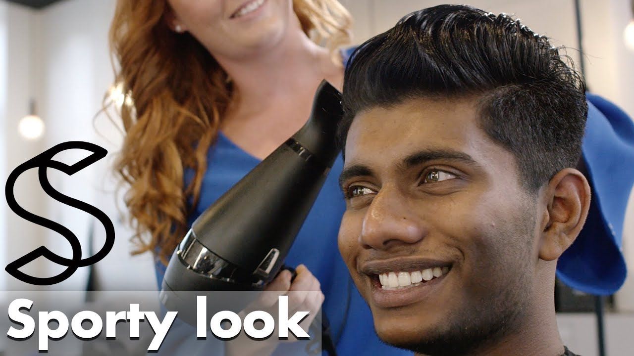 pompadour quiff hairstyle for men - india / asia hair type