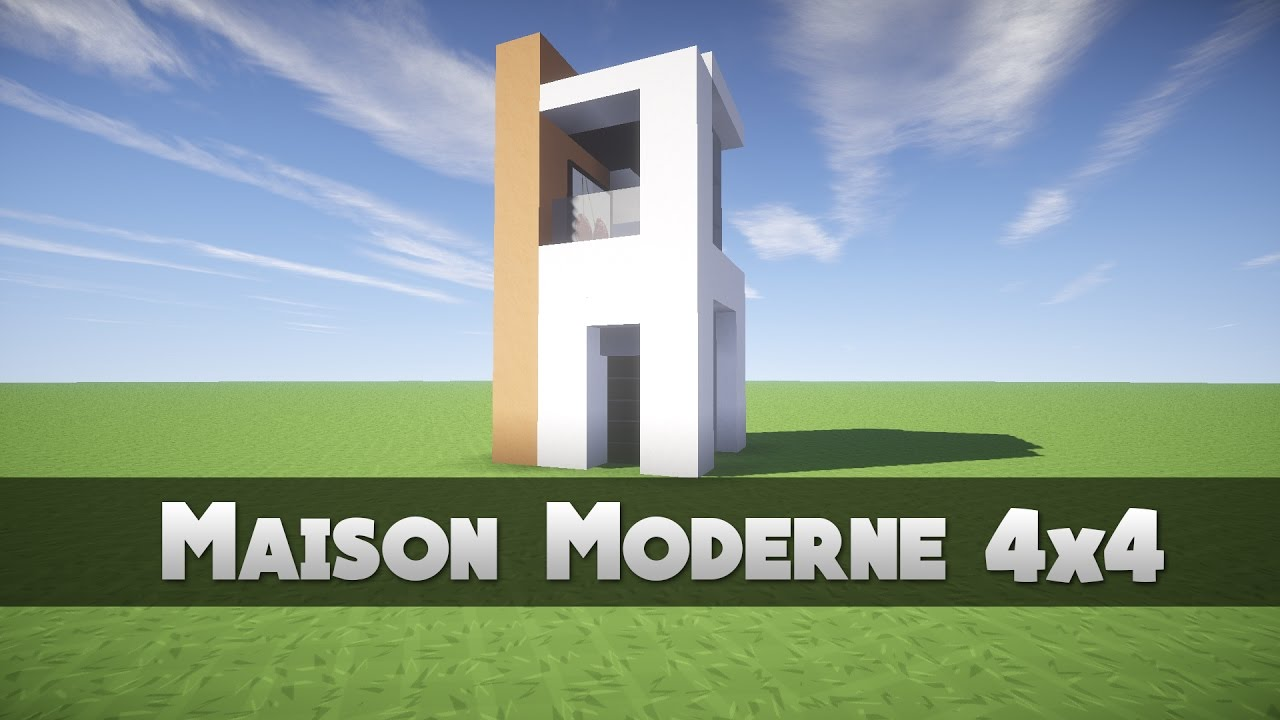 tuto maison moderne 4x4 minecraft youtube. Black Bedroom Furniture Sets. Home Design Ideas
