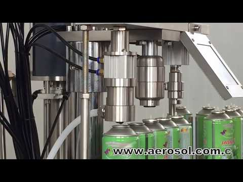 Semiautomatic Aerosol Filling Machine.mp4