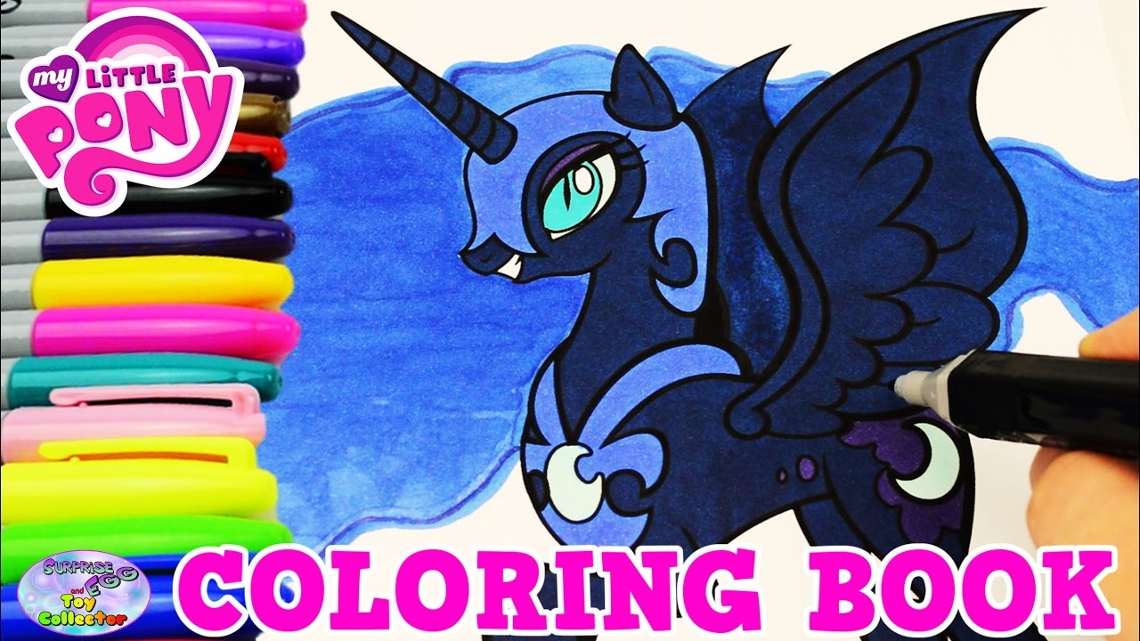 Nightmare moon coloring page - My Little Pony Coloring Book Nightmare Moon Episode Colors Surprise Egg And Toy Collector Setc