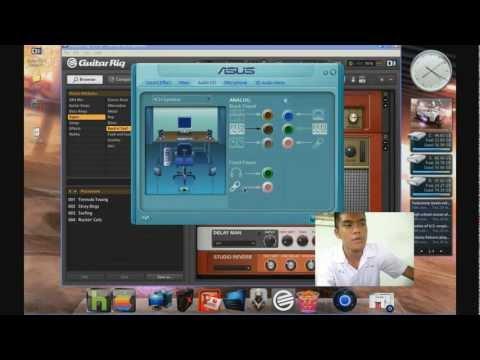 ต่อกีต้าร์เข้าคอมพิวเตอร์  Guitar rig4