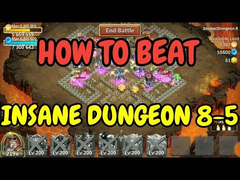 Insane Dungeon 8-5 Win L How To Beat Insane Dungeon 8-5 L Castle Clash