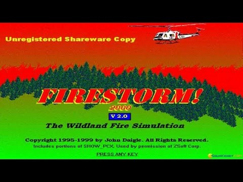 Firestorm: The Forest Fire Simulation Program gameplay (PC Game, 1995)