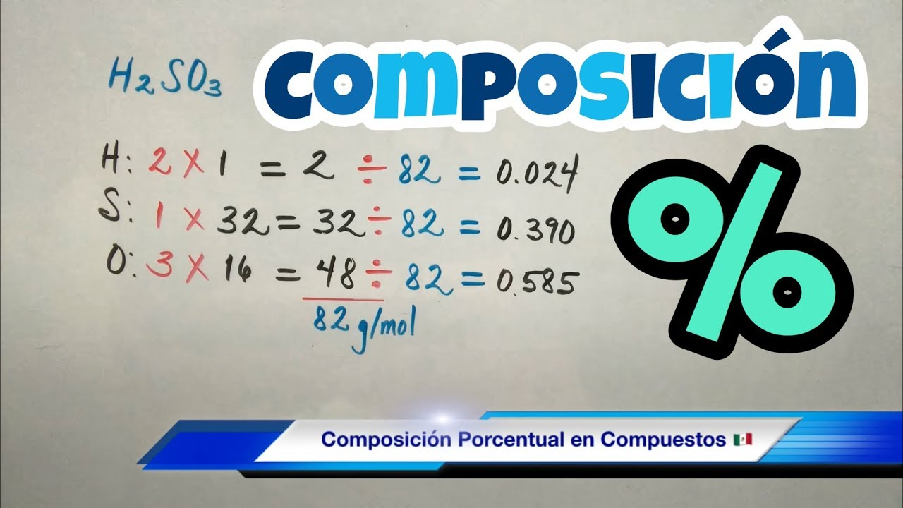 Composición PORCENTUAL de un Compuesto (muy fácil) - YouTube