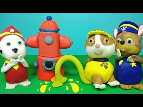 Paw Patrol Toilet Training Play-Doh Rubble Pees with Chase and Marshall English Episode Compilation