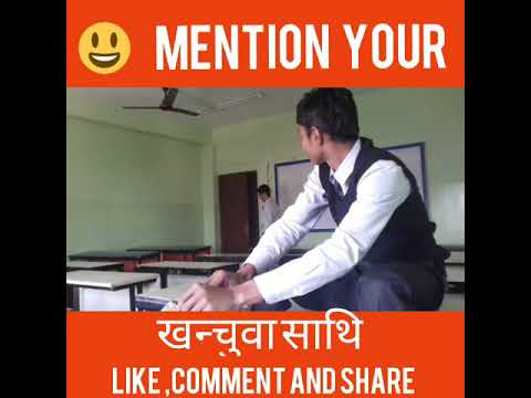 Orient college|student try to make video| during their leisure....