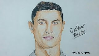 Drawing Cristiano Ronaldo  ( my first colourful portrait)