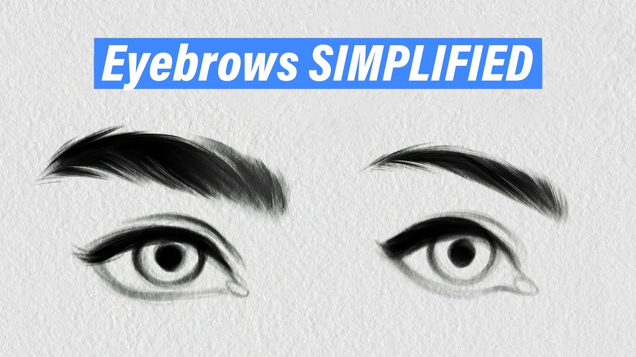 HOW TO DRAW EYEBROWS: STEP BY STEP - YouTube
