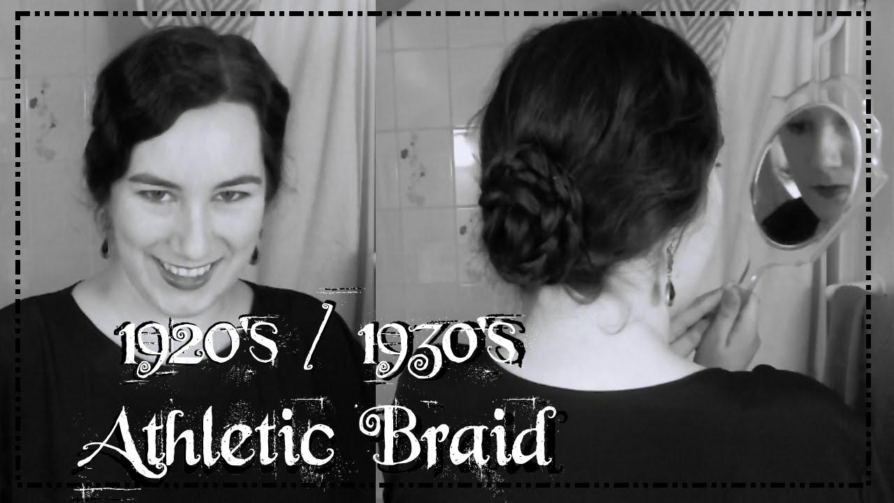1920's 1930's plaited coiffure