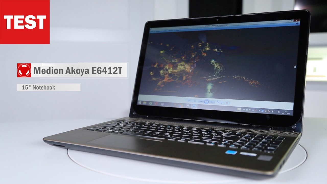 medion akoya e6412t neues aldi notebook im test youtube