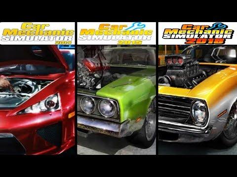 Car Mechanic Simulator 2014 Vs CMS 2015 Vs Car Mechanic Simulator 2018 - Gameplay Comparasion (HD)