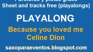 Because you loved me by Celine Dion Music score and playalong