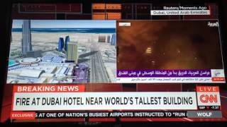 BREAKING NEWS: HUGE FIRE at Dubai Hotel Near the Burj Khalifa