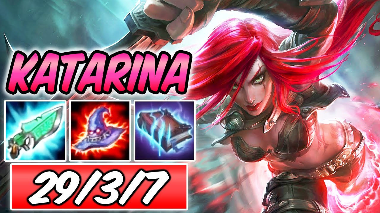 92% K.P | CLEAN CONQUEROR KATARINA MID S+ | Full AP Burst Build & Runes | League of Legends | S10