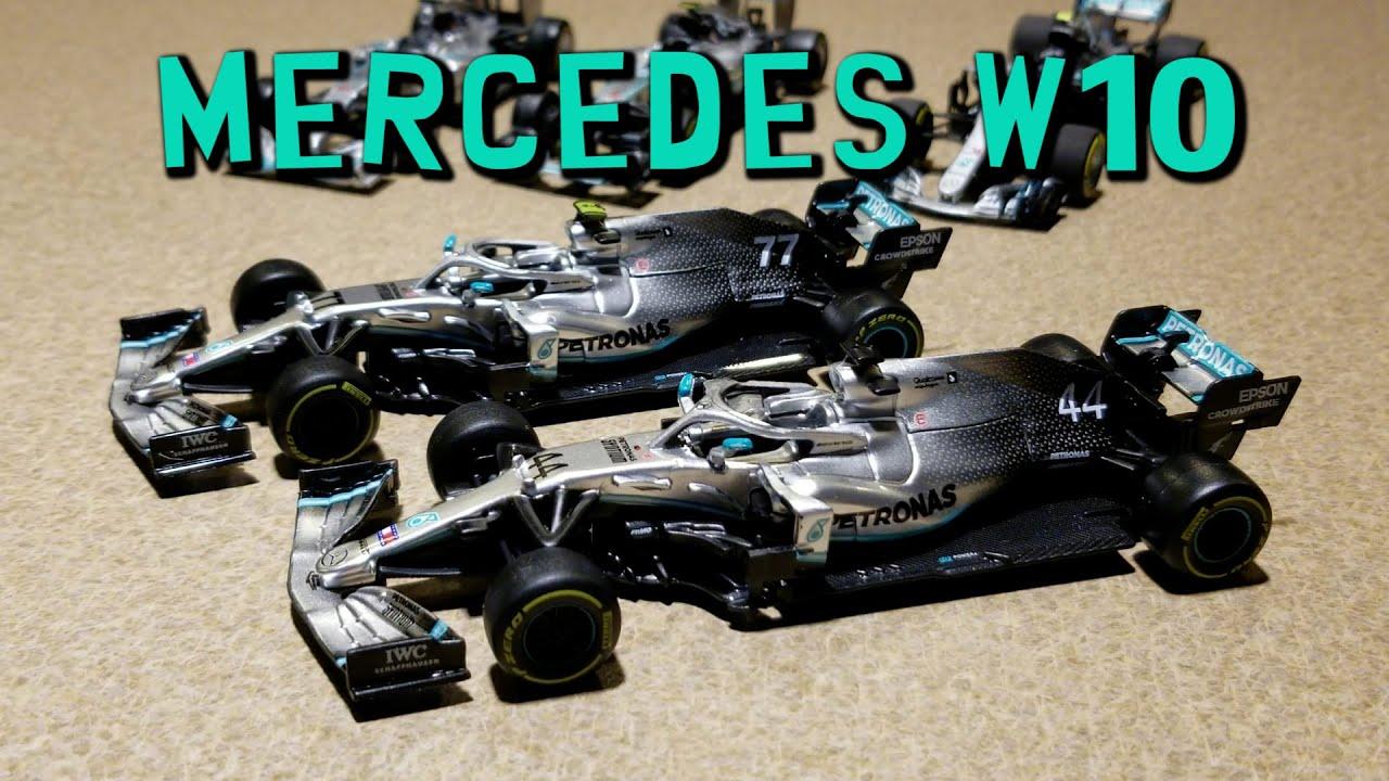 2019 Lewis Hamilton And Valtteri Bottas Mercedes W10 Bburago 1 43 Scale Diecast Review Youtube