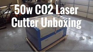 50w Laser Cutter Unboxing