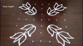 lotus kolam designs with 7x7 straight dots muggulu designs rangoli designs with dots