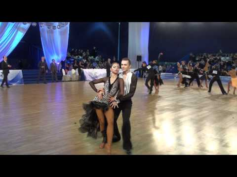 ANDREY GUSEV & ELIZAVETA CHEREVICHNAYA   IDSF INTERNATIONAL OPEN LATIN IN MOSCOW 2011   ROUND 4   P4