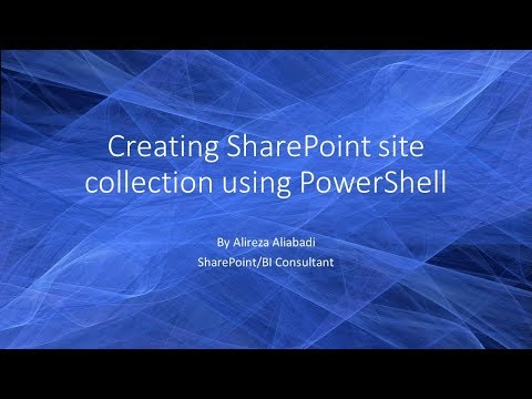 Create A Site Collection In SharePoint 2013/2016 Using PowerShell
