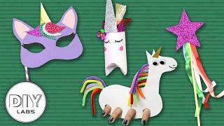 4 Amazing Rainbow Unicorn Crafts | Fast-n-Easy | DIY Arts & Crafts for Parents
