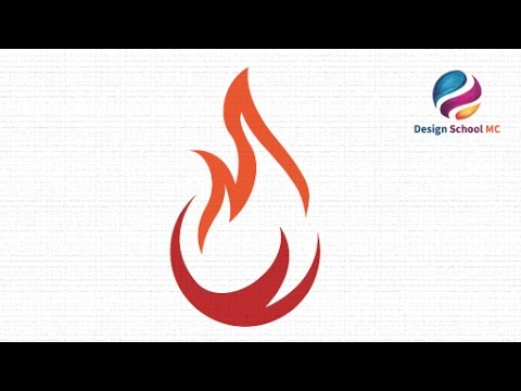 Illustrator Tutorial Logo Design : Flame Icon Logo Tutorial ( Fire Logo ) | Design School MC