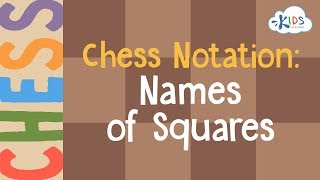 Learn to Play Chess - Chess Notation Names of Squares | Kids Academy