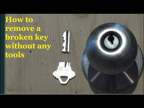 How To Remove Broken Key From Lock >> Two Ways To Remove A Broken Key
